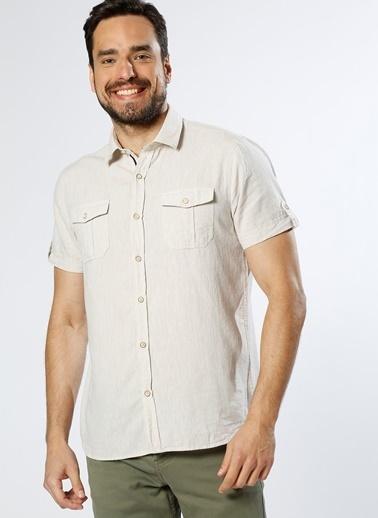 Limon Company Kısa Kollu Gömlek Bej